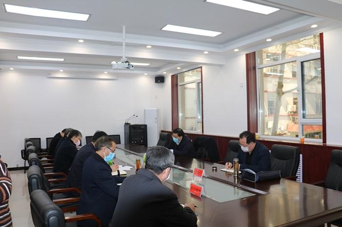 王大虎到我队调研指导统筹推进疫情防控和复工复产工作